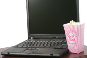 popcorn and computer