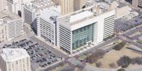 Dallas Library aerial photo