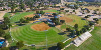 Aerial photos by drone of ballfields in Carrollton, TX