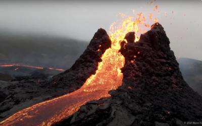 Drone Pilot Captures Awe-Inspiring Volcano Eruption